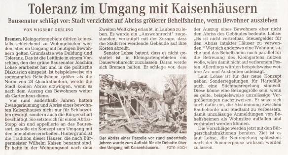 Weser-Kurier 14.6.14