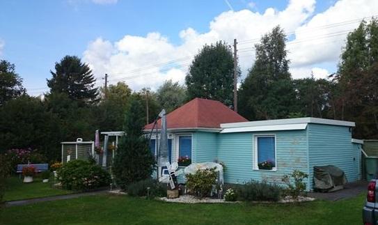 Sinnvoll genutztes Kaisenhaus als Wochenendhaus, das zeigt wie es auch aussehen kann. Foto: Uwe Siemann
