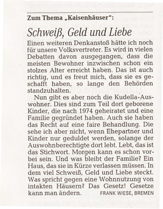 Weser-Kurier 7.7.2014