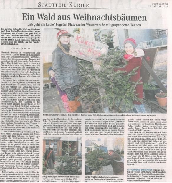 Weser-Kurier/Stadtteil-Kurier Süd 22.1.2015